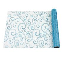 CHEMIN DE TABLE ARABESQUE TURQUOISE