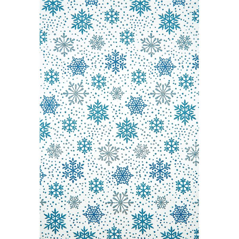 CHEMIN DE TABLE FLOCONS BLEU 28CMX5M