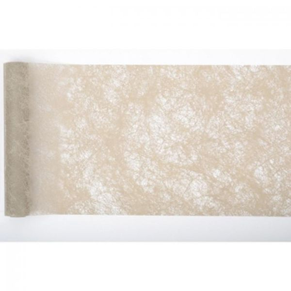 CHEMIN DE TABLE ROMANCE 30CM - TAUPE