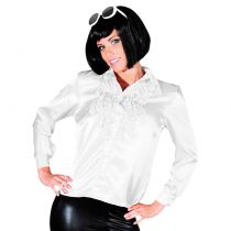 CHEMISE DISCO BLANCHE FEMME