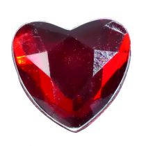 COEUR EN DIAMANT PM - ROUGE