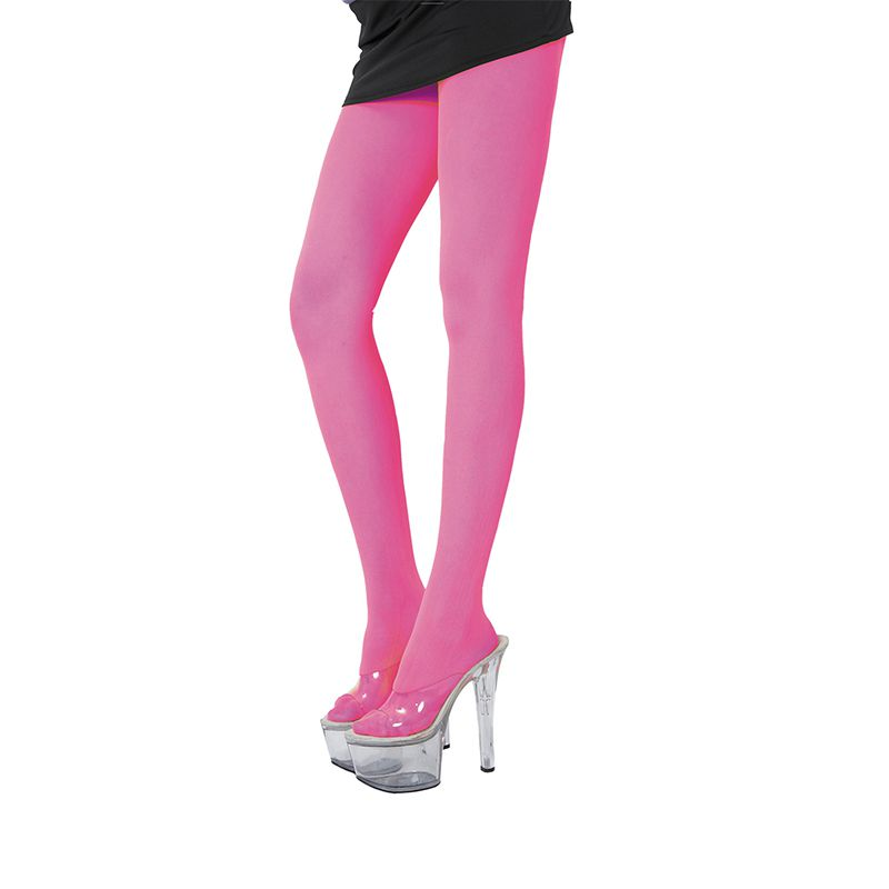 COLLANT ROSE FLUO ADULTE