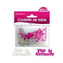 CONFETTIS DE TABLE VIVE LA RETRAITE ROSE