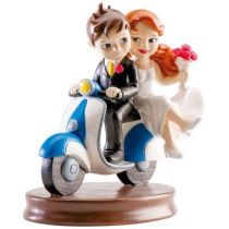 figurine mariage scooter