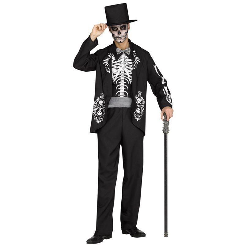 déguisement mexicain skull adulte