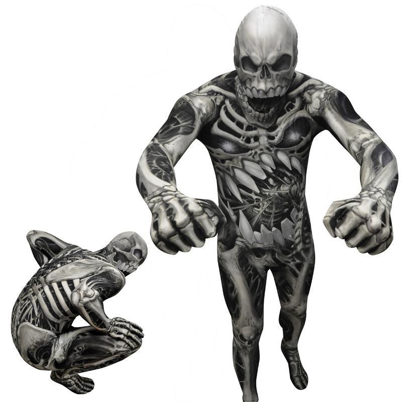 déguisement seconde peau squelette adulte