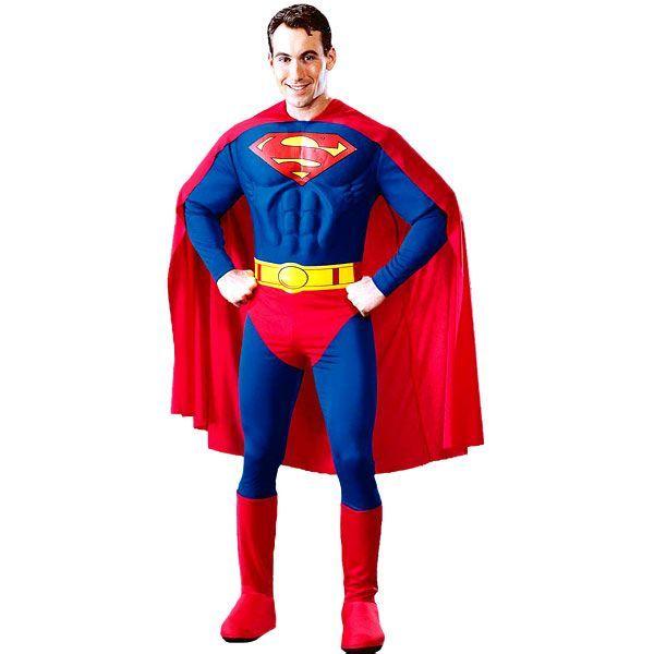 DÉGUISEMENT SUPERMAN TORSE 3D HOMME �