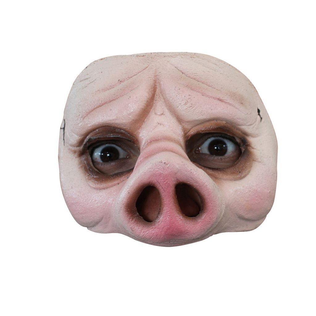 DEMI MASQUE COCHON LATEX ADULTE