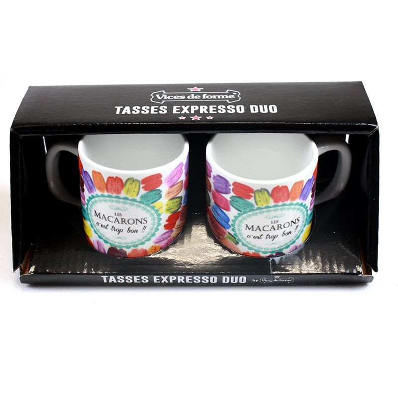 DUO TASSES EXPRESSO LES MACARONS