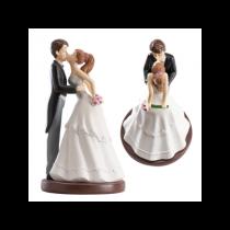 FIGURINE MARIAGE 16CM LE BAISER