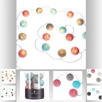 GUIRLANDE 16 MINI BOULES LED MULTICOLORE