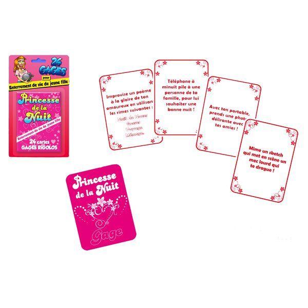jeu de carte enterrement vie de jeune fille