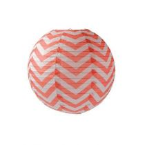 boule chinoise chevron orange corail