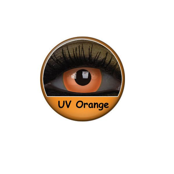LENTILLE FLUO UV ORANGE