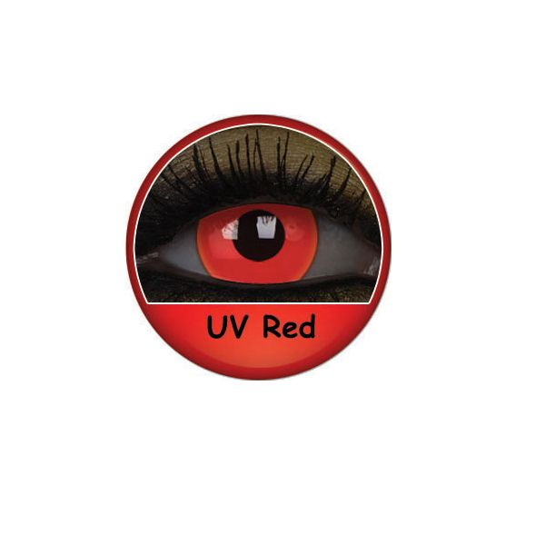 LENTILLE FLUO UV RED