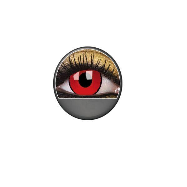 lentilles yeux rouges