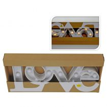 LETTRES LOVE BLANCHE CHAUD 45 CM