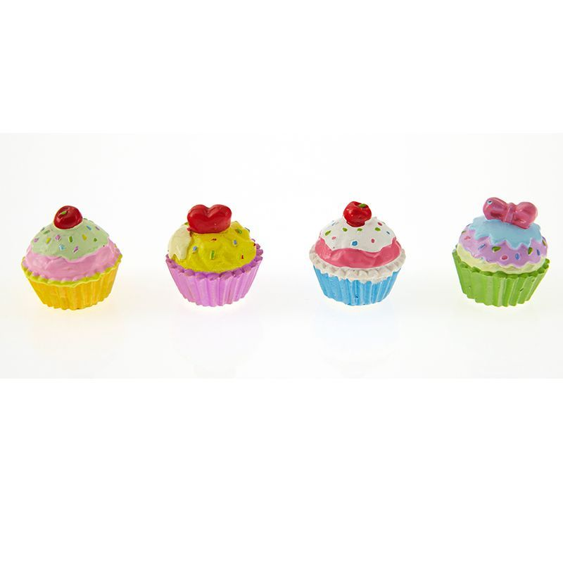 LOT DE 4 CUPCAKE STICKER