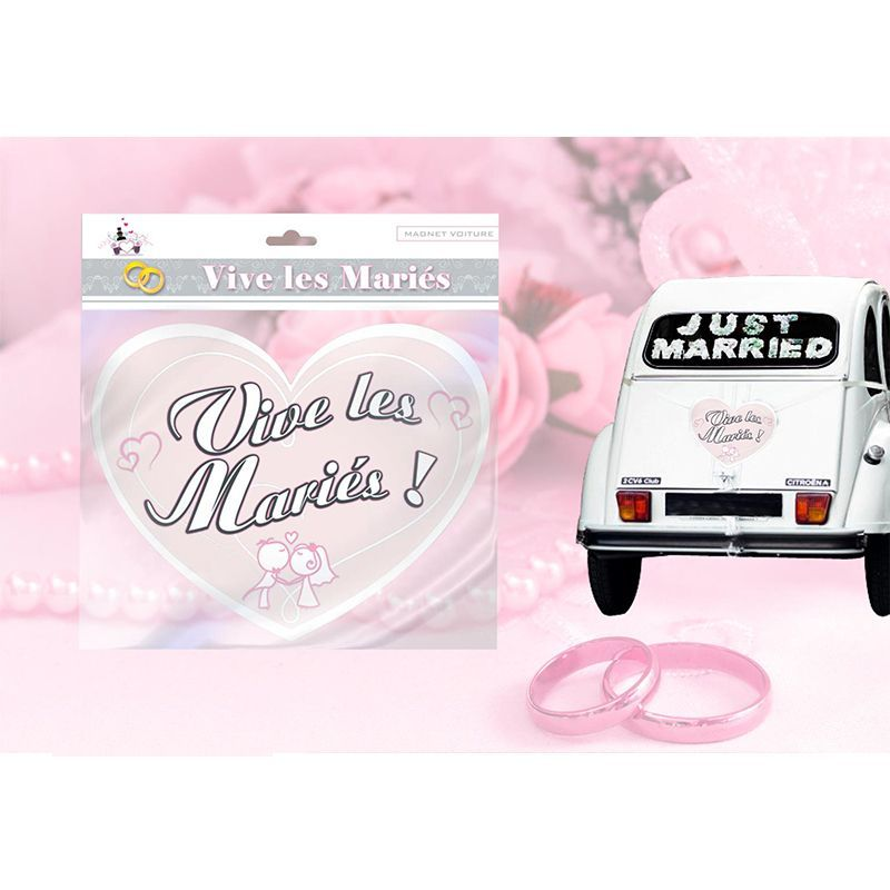 MAGNET MARIAGE COEUR VOITURE