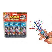PACK DE 4 CANONS À CONFETTI PIRATE