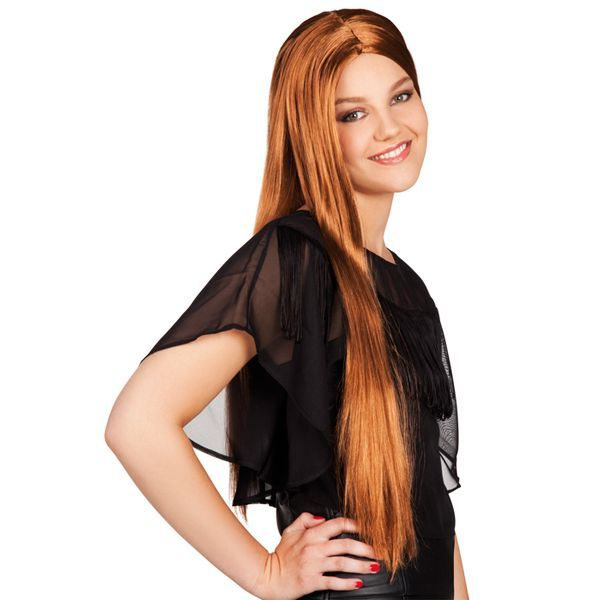 perruque cheveux longs bruns