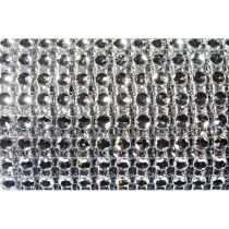RUBAN DIAMANTS ARGENT 2CMX1,80M