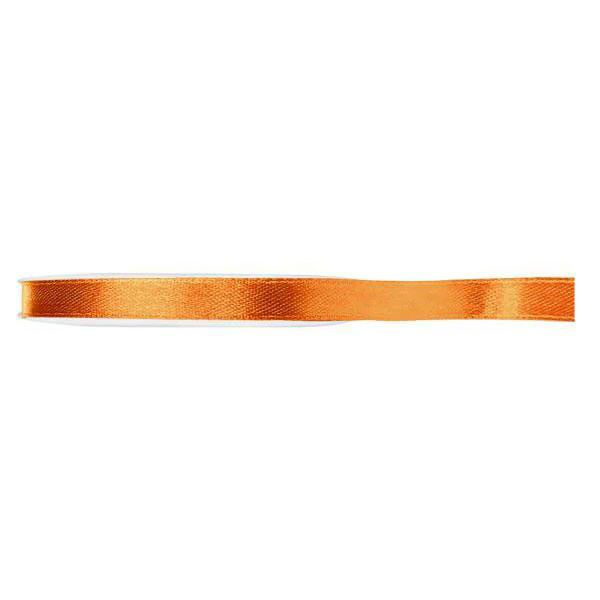 RUBAN SATIN DOUBLE FACE 6MM - ORANGE