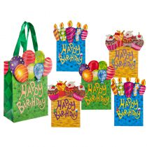 SAC CADEAU HAPPY BIRTHDAY 11X16 CM
