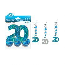 SUSPENSIONS ACCORDEONS 20 ANS HOLO. BLEU
