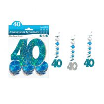SUSPENSIONS ACCORD�ONS 40 ANS HOLO. BLEU