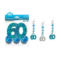 SUSPENSIONS ACCORDEONS 60 ANS HOLO. BLEU