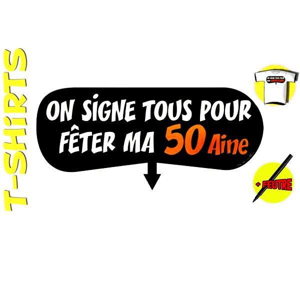 T-SHIRT+ STYLO ON SIGNE 50AINE