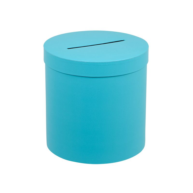URNE RONDE TURQUOISE TAILLE M