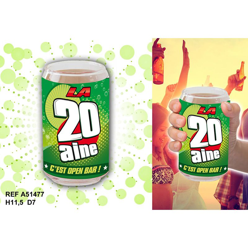 VERRE CANETTE 20 AINE