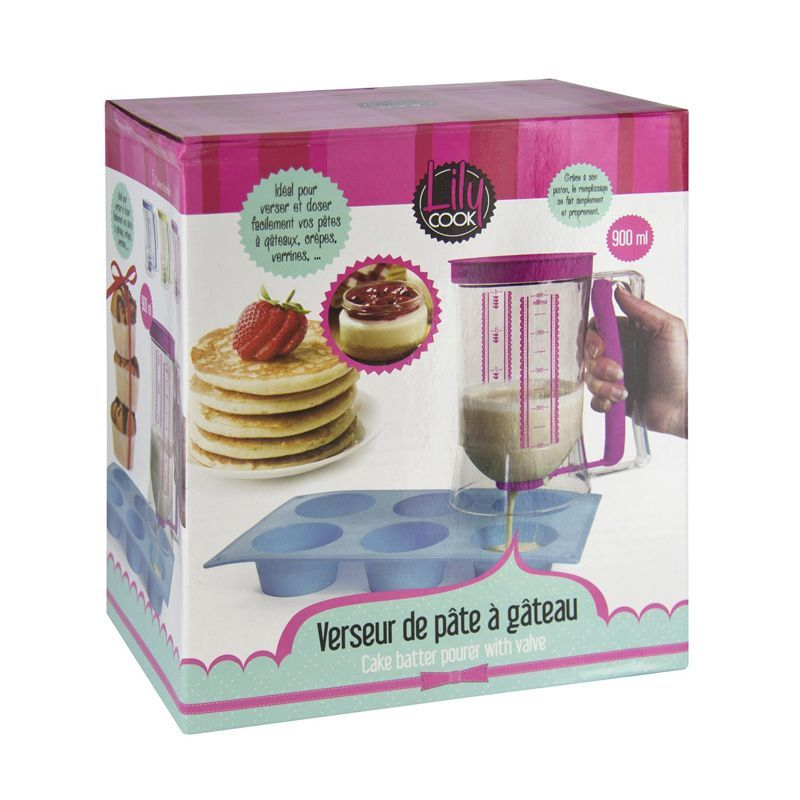 VERSEUR PÂTE À GATEAU À PISTON 900ML