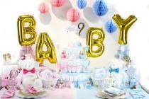 Table Baby Shower rose ou bleu
