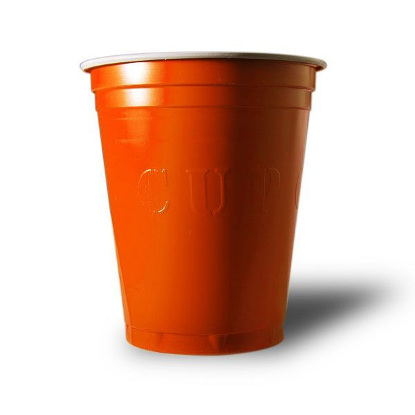 20 gobelets usa plastique orange