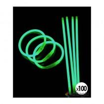 bracelet fluo et lumineux vert pour soirée