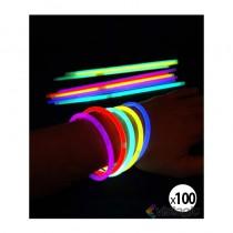 bracelet fluo et lumineux multicolore