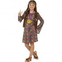 DÉGUISEMENT HIPPIE MULTICOLORE FILLE