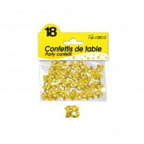 CONFETTIS DE TABLE 18 ANS OR