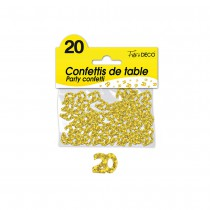CONFETTIS DE TABLE 20 ANS OR