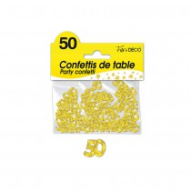 CONFETTIS DE TABLE 50 ANS OR