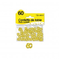 CONFETTIS DE TABLE 60 ANS OR