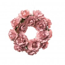 COURONNE ROSES ROSE 12CM