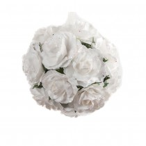 SPHÈRE ROSES BLANCHES 8CM