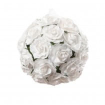 SPHÈRE ROSES BLANCHES 12CM