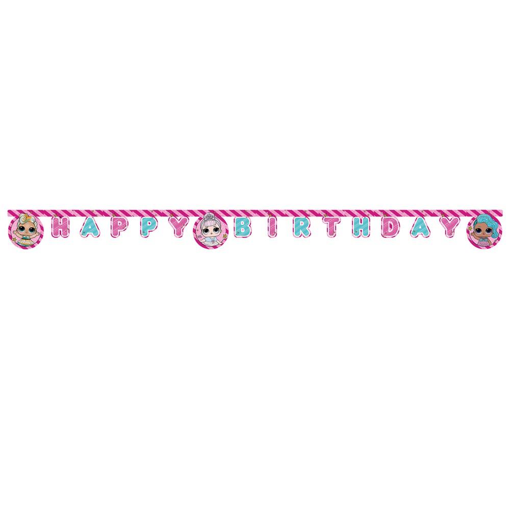 1 GUIRLANDE HAPPY BIRTHDAY L.O.L. SURPRISE