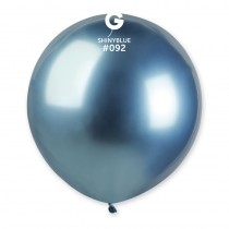 1 BALLONS LATEX 48CM - BLEU CHROME