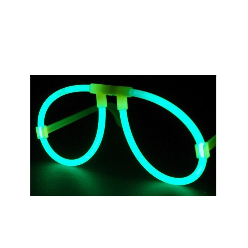 1 paire de lunettes lumineuses fluo vert. Black Bedroom Furniture Sets. Home Design Ideas